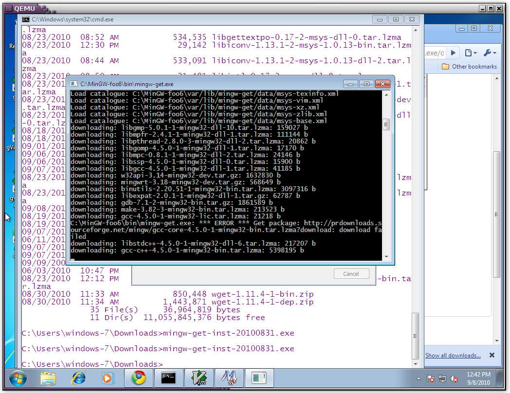 Compiling and installing the qscript compiler on Windows